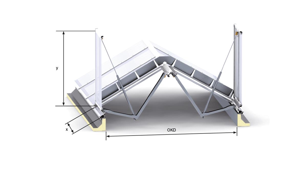 Lichtband - Satteldachform RWG | LAMILUX Heinrich Strunz Group